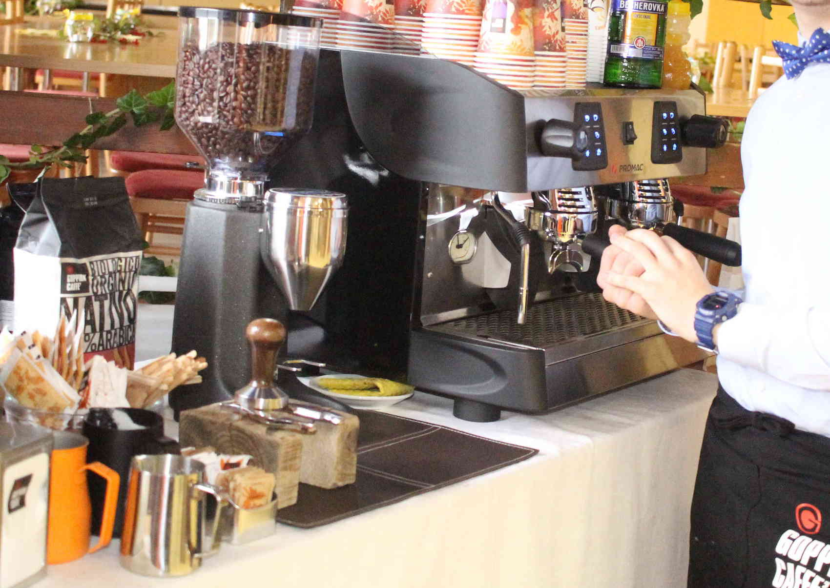 talianska kava espresso kavovar rancilio promac